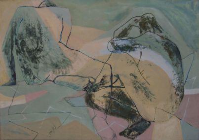 Paar, couple, Öl auf Leinwand, oil on canvas, 60 cm x 80 cm, 2009