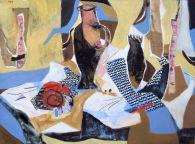 Fisch,Krug und Schneckenhaus, fish, jug and shell, Öl auf Leinwand, oil on canvas, 94 cm x 82 cm, 2011