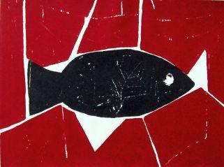 Fisch, fish Siebdruck, silkscreen, 98 cm x 60 cm, 2013