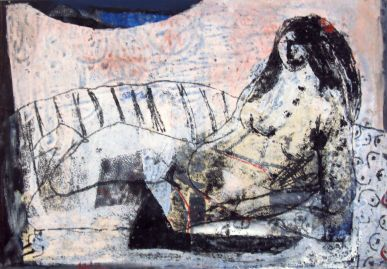 Odaliske, odalisque, Öl auf Leinwand, oil on canvas, 37 cm x 22 cm, 2007