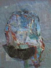 Rückenakt, nude, Öl auf Papier, oil on paper, 65 cm x 46 cm, 2006