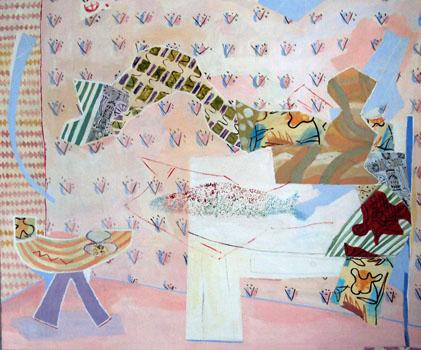Simultan, simultaneously, Öl auf Leinwand, oil on canvas, 158 cm x 147 cm, 2012