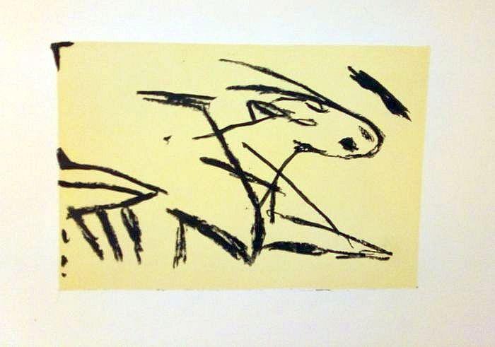 Ausbruch, escape, Lithografie, lithography, 22 cm x 31 cm, 2019