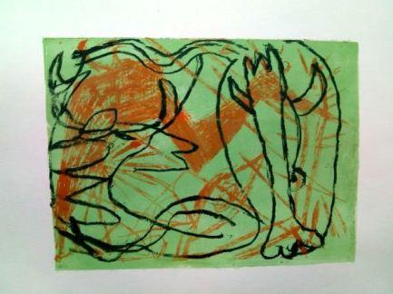 jungle, Lithografie, lithography, 21 cm x 30 cm, 2019
